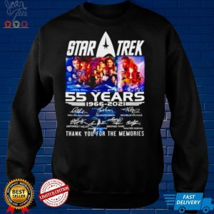Star Trek 55 years 1966 2021 thank you for the memories signatures shirt