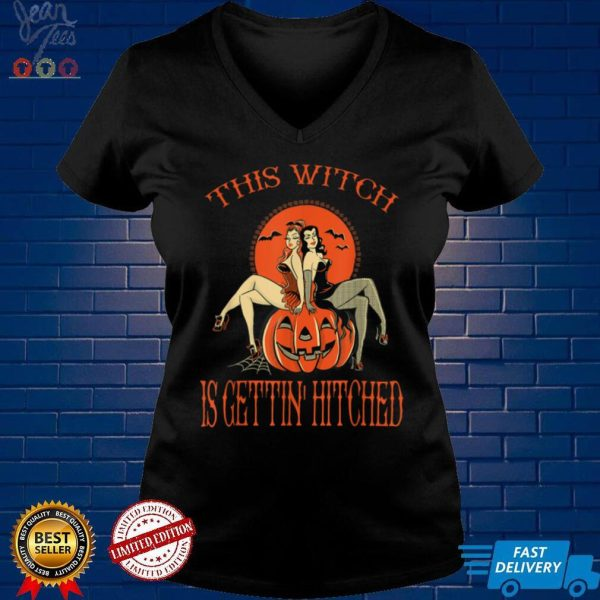 Halloween Bachelorette Party Squad Sexy Witch T Shirt 1